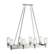 Kichler Circolo 8-Light Linear Chandelier, Brushed Nickel