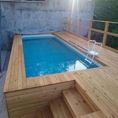 Houzz piscine fuori terra mediterraneo for Piscina esterna legno