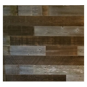 DIY Peel and Stick Reclaimed Barn Wood Wall Panels Home Decor, 10 sq. ft.