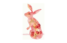 VALENTINE Pink Cherry Bunny Fine Art Print by Eastwitching