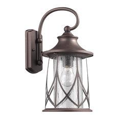 "Chloe Lighting Marhaus 1-Light Rubbed Bronze Outdoor Wall Sconce, 15"""