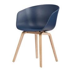Hay Design   About A Chair AAC 22 Stuhl Blau/Natur Hay Design    Esszimmerstühle