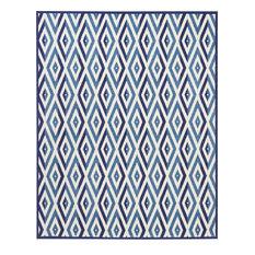 "Nourison Grafix Area Rug, White Blue, 7'10""x9'10"""