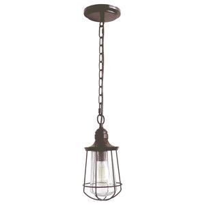 Western Bronze 1-Light Chain Lantern, Small