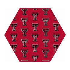 NCAA My Team College Repeating Rug Texas Tech, 10' Hexagon