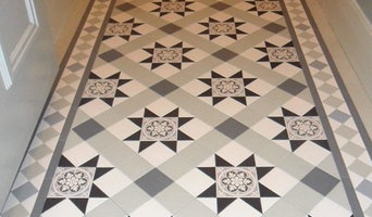Blenheim Victorian hallway Tile design in Black,white and tones of Grey