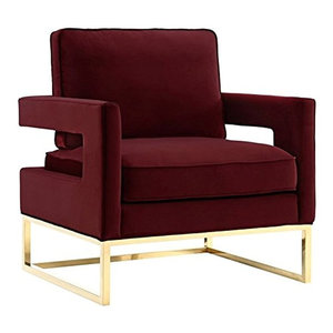 Noah Velvet Accent Chair Contemporary Armchairs And