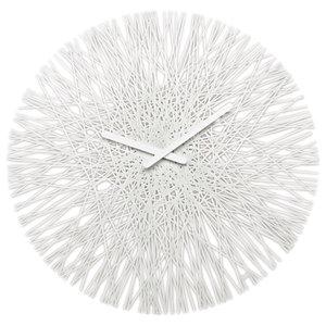 Silk Wall Clock, White