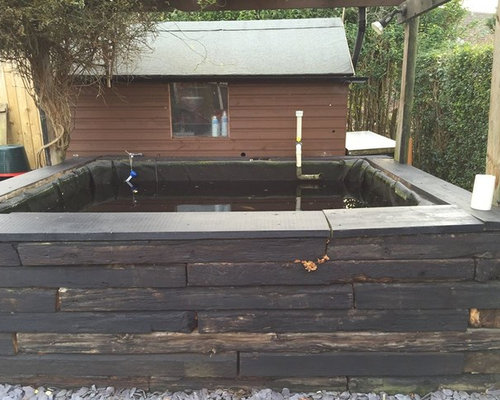 Koi pond with viewing window for Koi pond viewing window