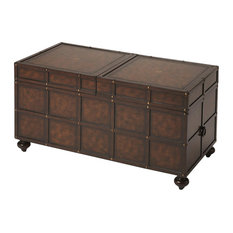 Butler Dennard Faux Leather Trunk Cocktail Table