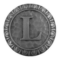 Initial L Knob Antique Pewter