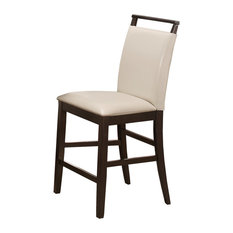Catherine Espresso Kitchen Counter Height Chairs Set Of 2