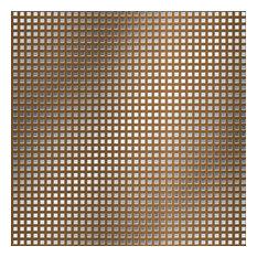 Bronze Mesh Shelf Paper Drawer Liner, 36x12, Laminated Vinyl