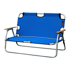 Sport Couch Two-Person Folding Aluminum Chair, Royal Blue