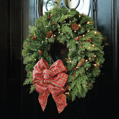 - Winter Pine Greenery Collection - Seasonal Outdoor Decorations