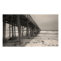 Young Lovers Flagler Beach Pier Florida Fine Art Black and White Photography , 2