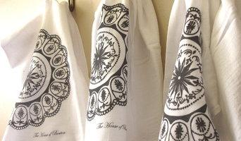 Hand Printed Flour Sack Towels