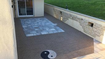 Terrasse résine