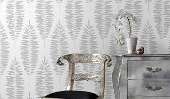 Graham & Brown Lucia Leaf White/Silver Metallic Wallpaper