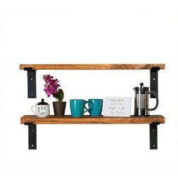Industrial Display And Wall Shelves  by Del Hutson Designs