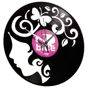 Curly Thoughts Wall Clock