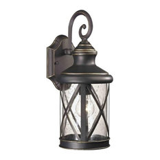 Boston Harbor Outdoor Wall Lantern, One Light, Oil Rubbed Bronze