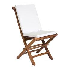 Folding Chair and White Cushion