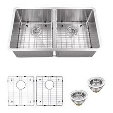Stainless Steel 16-Gauge Radius 50/50 Kitchen Sink
