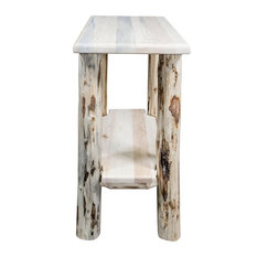 Montana Chairside Table, Clear Lacquer Finish