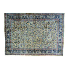 Consigned 12'x16' Persian Mashad Gallery Size Handmade Oriental Rug
