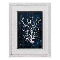 Wood Coral Blue, Set of 3