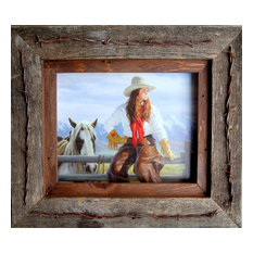 Texas Vaquero Western Frame With Barbed Wire Quality Western, 8x10