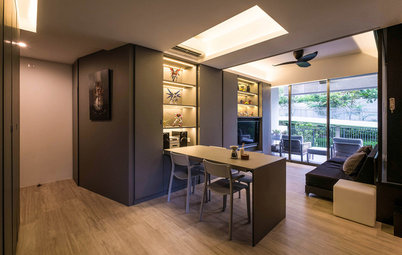 Houzz Tour: Hide and Sleek With a 2-Bedroom Condo's Hideaway Features