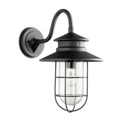 "Quorum Moriarty 1-Light 19"" Noir Large Outdoor Wall Lantern"