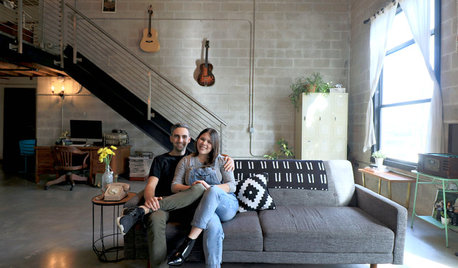 My Houzz: Vintage Touches in an Industrial Loft in Tampa