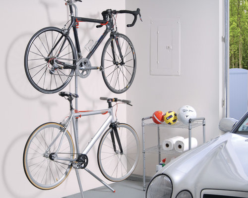 Indoor Bike Storage - The Donatello Two-Bike Gravity Rack