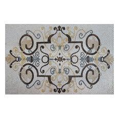 "Mosaic Rug Tile, Esmeralda Pattern, 24""x35"""