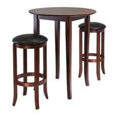 Winsome Fiona Round 3-Piece High/Pub Table Set