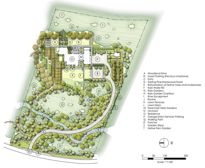 Traditional Site And Landscape Plan by CARBO Landscape Architecture