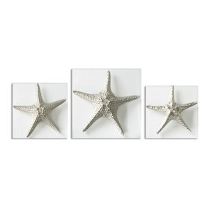 Unique Starfish Recycled Paper Wall Sculpture Beach Style Wall Accents By Novica