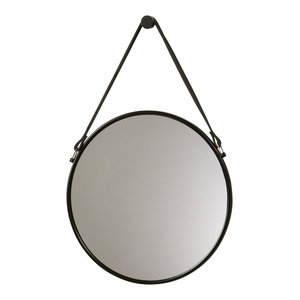 Thymo Stainless Steel Wall Mounted Hanging Cosmetic Makeup Round Mirror
