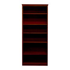 York Bookcase, 11_x25x72, Pine Wood, Antique Cherry