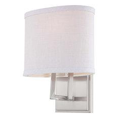 Bathroom Vanity Lights With Fabric Shades bathroom vanity lights with a gray shade | houzz