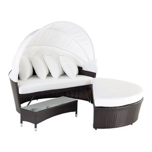 Sylt Lux Synthetic Rattan Day Bed Set