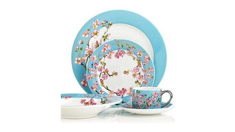 Cru International Madison's April In NY 5-PC Place Setting Set Blue / Multi