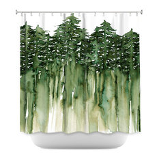 dianoche designs forest trees shower curtain by julia di sano green shower curtains