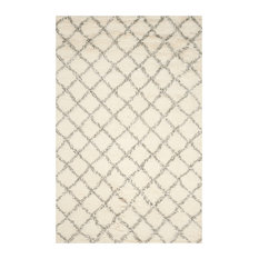 Safavieh Sarafina Hand Knotted Rug, Ivory and Gray, 9'x12'