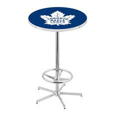 L216 - 42-inch Chrome Toronto Maple Leafs Pub Table by Holland Bar Stool Co. by Holland Bar Stool Company