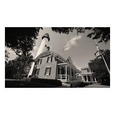 St Simons Lighthouse, St Simons Georgia Fine Art Black and White Photography, 16