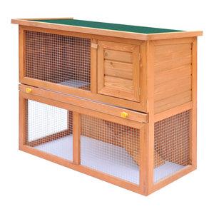 vidaXL Hedgehog House Habitat Box Small Animals Pet Houses Solid Fir Wood